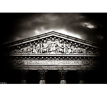 ...And Justice for All Photographic Print