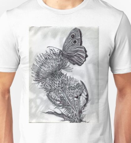 A Thistle and Butterfly Unisex T-Shirt