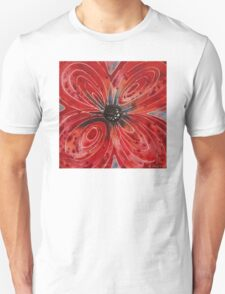 Red Flower 2 - Vibrant Red Floral Art T-Shirt