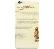 Old Proverbs with New Pictures Lizzie Laweson and Clara Mateaux 1881 0048 Old Birds are Not Caught by Chaff iPhone Case/Skin