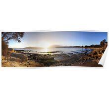 Bellerive Beach Sunset Poster
