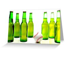 Baseball & Beer Greeting Card
