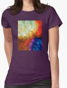 Angels Among Us - Emotive Spiritual Healing Art Womens Fitted T-Shirt