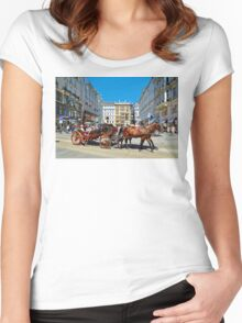 The Charm of Vienna  Women's Fitted Scoop T-Shirt