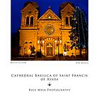 Cathedral Basilica in Santa Fe (poster version) by Mitchell Tillison