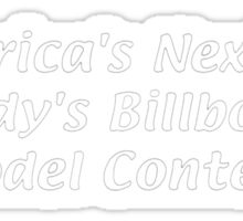 America's Next Top Paddy's Billboard Model Contest Sticker
