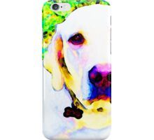 You Are My World - Yellow Lab Art iPhone Case/Skin