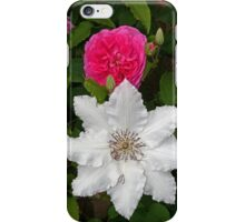 Rose & Clematis iPhone Case/Skin