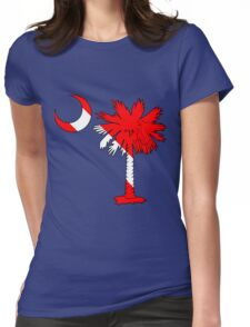 Diver Flag Palmetto Moon Womens Fitted T-Shirt
