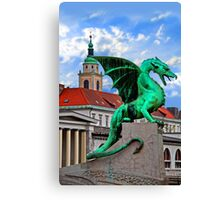 Dragon Bridge, Ljubljana, Slovenia Canvas Print