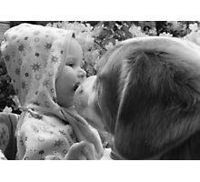 Halo, Garden Angel! (b/w - Spring Series) Photographic Print
