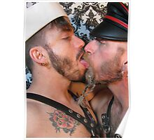 Leather Kiss Poster
