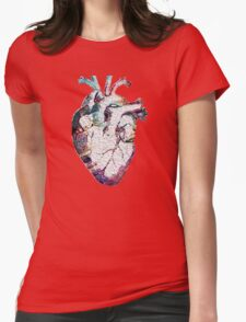 Anatomy - Heart (Oil Paint) Womens Fitted T-Shirt