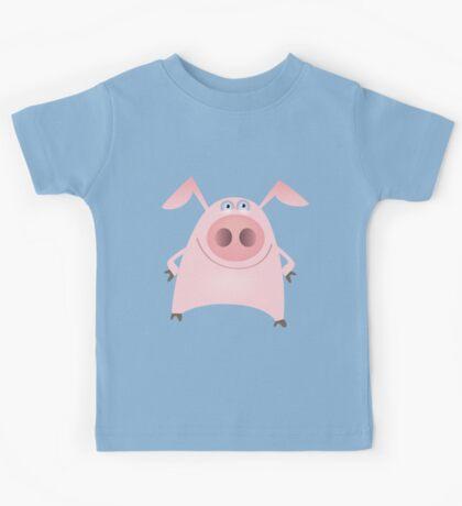 Funny pink pig Kids Tee
