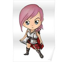 Lightning Chibi (Final Fantasy 13) Poster
