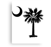 Calico Jack Pirate Palmetto Moon Canvas Print
