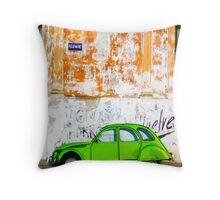 Green Car - Argentina Throw Pillow