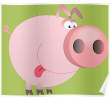 Funny joking pig  Poster