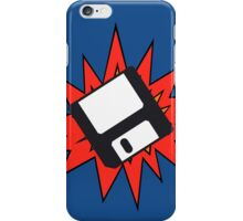 Dynamic Retro Floppy Disc old skool tech iPhone Case/Skin