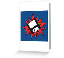 Dynamic Retro Floppy Disc old skool tech Greeting Card