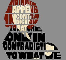 Nothing Happens in Contradiction to Nature - X-files Scully quote by Sydney Koffler