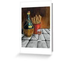 A Jug Of Wine And Thou Greeting Card