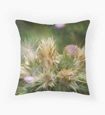 Weeds and Wildflowers 1 Throw Pillow