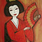 Geisha in Red by Denise Daffara