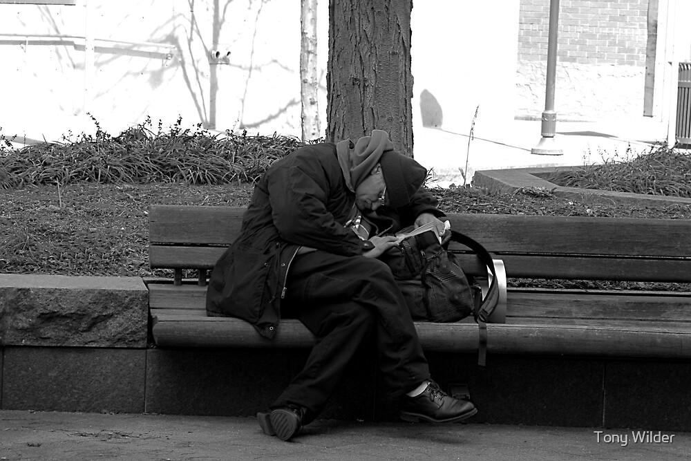 Bench Break - Garfield Park Cincinnati by Tony Wilder