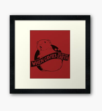 When Pigs Ruled the Earth Framed Print