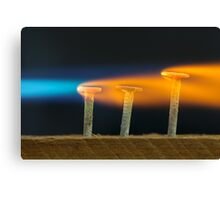 Glowing Nails Canvas Print