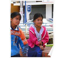 Children of Otavalo, Ecuador Poster