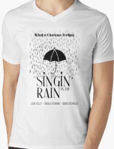 Singin' in the Rain Movie Poster Mens V-Neck T-Shirt
