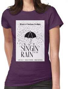 Singin' in the Rain Movie Poster Womens Fitted T-Shirt