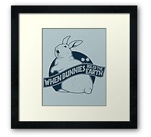 When Buns Ruled the Earth Framed Print