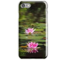 Water-lilies  on a forest lake. iPhone Case/Skin