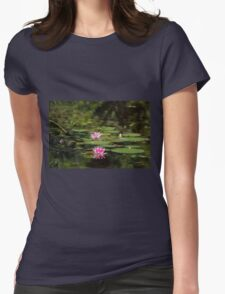 Water-lilies  on a forest lake. Womens Fitted T-Shirt