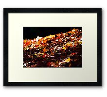 and they all fall down Framed Print