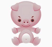Little frown pig by Olga Chetverikova