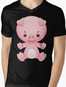 Little frown pig Mens V-Neck T-Shirt