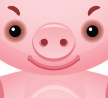 Little frown pig Sticker