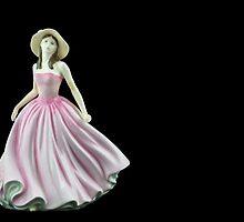 Bone China Figurine Wearing a Light Pink Dress by Russell102