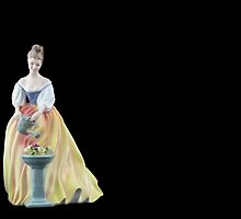 Bone China Figurine Wearing a White and Yellow Dress by Russell102