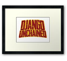 DJANGO UNCHAINED - Typography design Framed Print