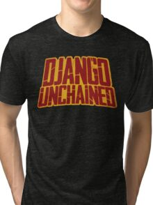 DJANGO UNCHAINED - Typography design Tri-blend T-Shirt