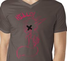Hello! Mens V-Neck T-Shirt