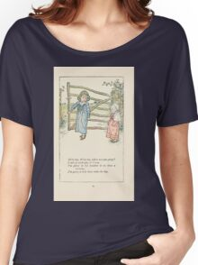 Mother Goose or the Old Nursery Rhymes by Kate Greenaway 1881 0033 Willy Boy Where are You Going Women's Relaxed Fit T-Shirt