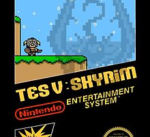 Skyrim Retro NES 8-Bit Cover by sansasnark