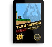 Skyrim Retro NES 8-Bit Cover Metal Print