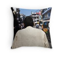 Haridwar: The cycle rikshaw ride Throw Pillow